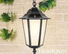 Подвесной уличный светильник Elektrostandard GL 1004H черное золото